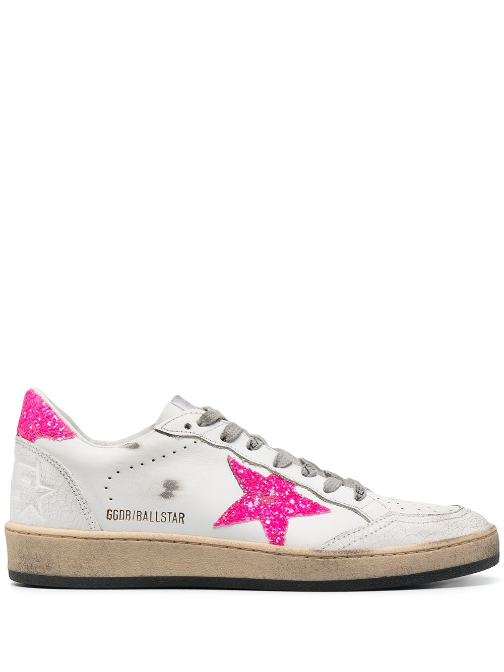 Picture of Golden Goose Deluxe Brand | Ballstar Leather Sneakers