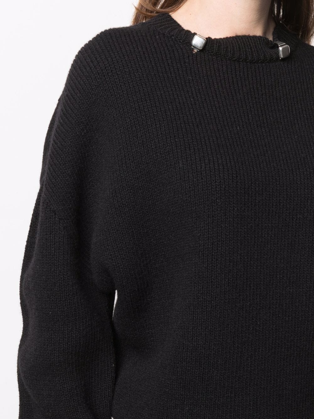 Picture of Bottega Veneta | Embellished Knitted Jumper