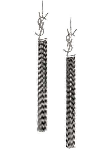 Picture of Saint Laurent | Monogram Tassel Earrings