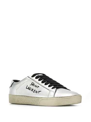 Picture of Saint Laurent | Lace-Up Logo Sneakers