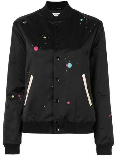 Picture of Saint Laurent | Logo Printed Varsity Jacket