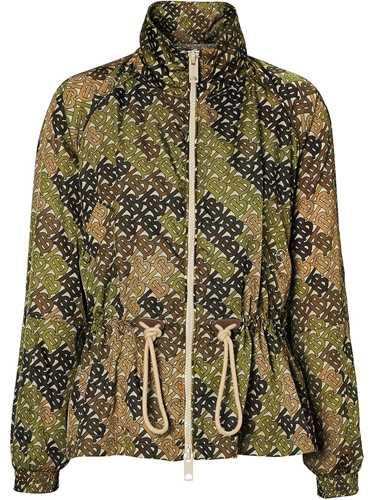 Picture of Burberry | Monogram Print Nylon Funnel Neck Jacket