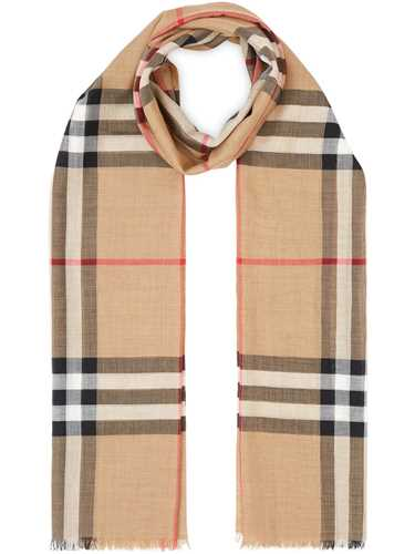 Picture of Burberry   Check Wool And Silk Scarf