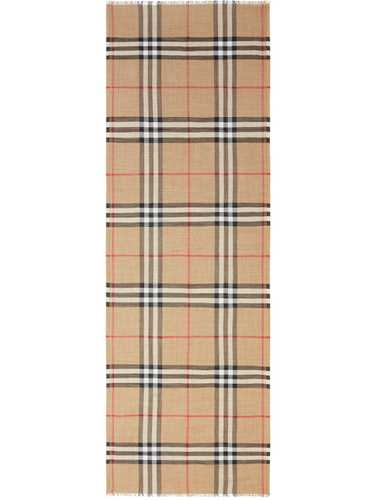 Picture of Burberry | Check Wool And Silk Scarf