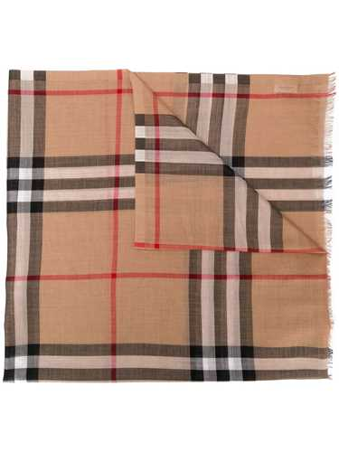 Picture of Burberry | Lightweight Check Wool And Silk Scarf