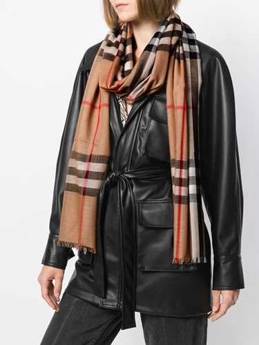 Picture of Burberry   Lightweight Check Wool And Silk Scarf