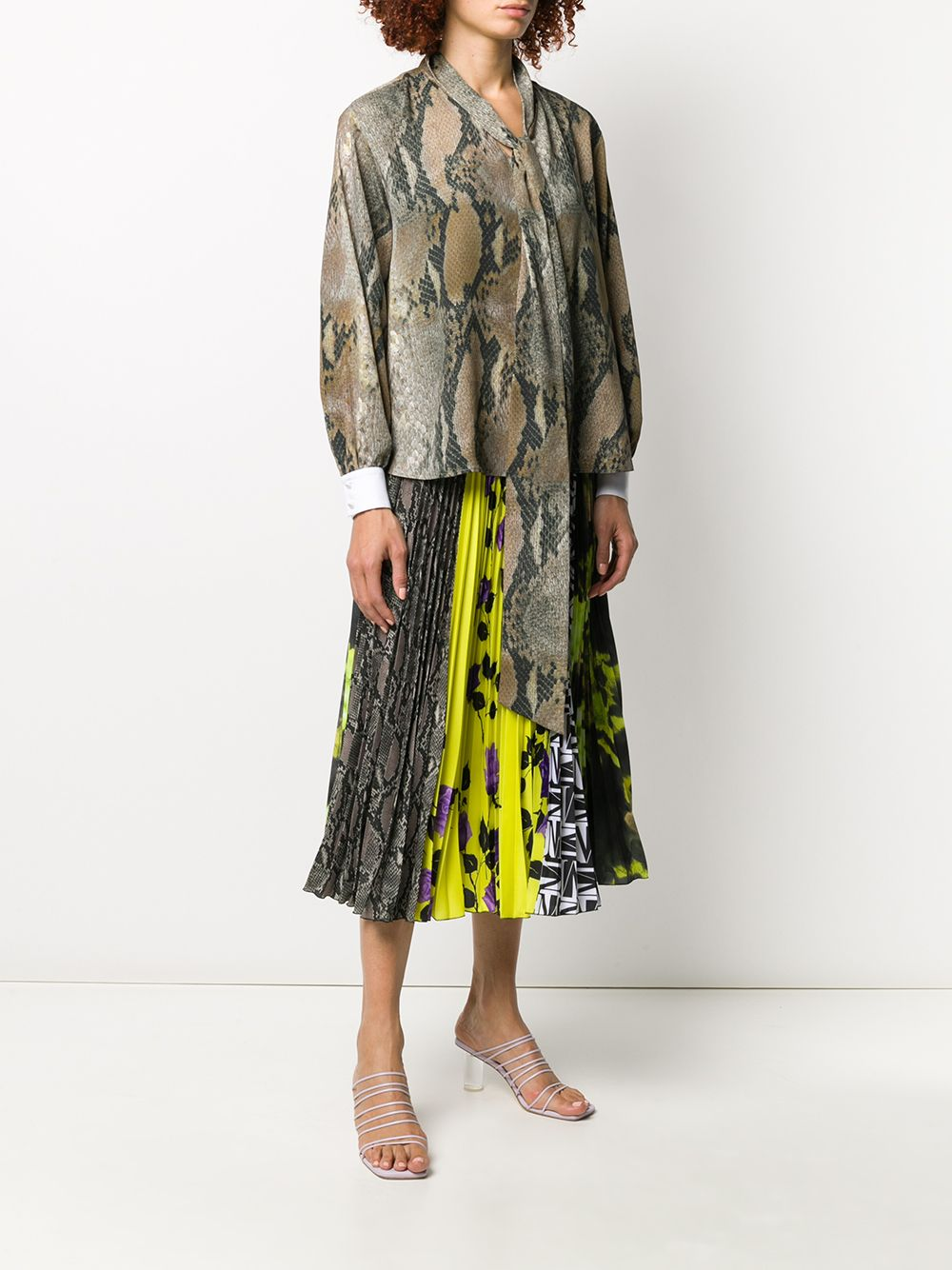 Picture of Msgm | Snakeskin Print Blouse
