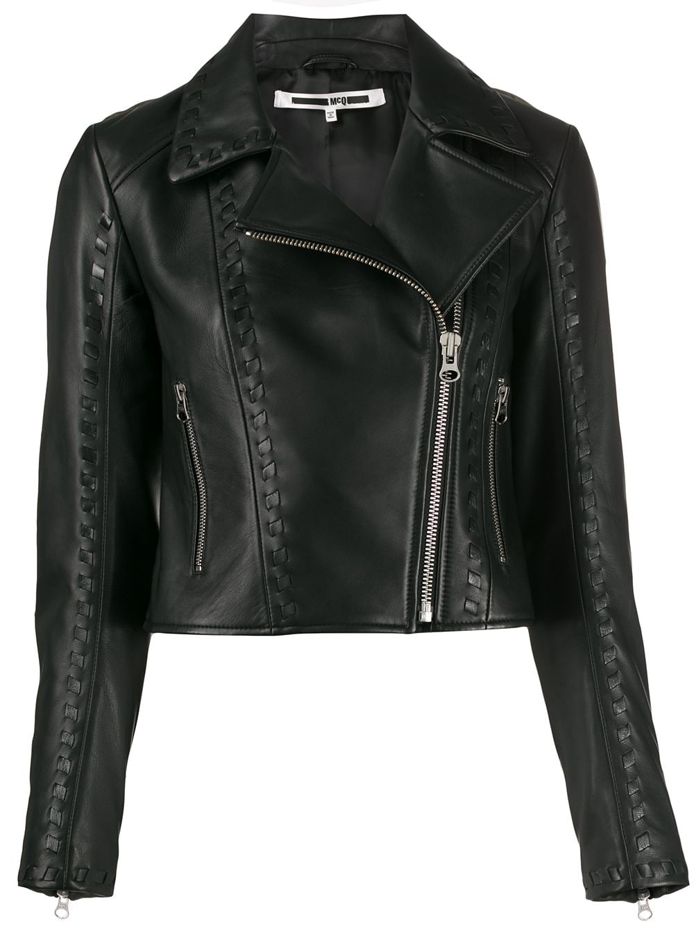 Picture of Mcq | Motoya Cropped Biker Jacket