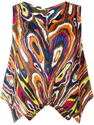 Picture of Issey Miyake Pleats Please | Printed Sleeveless Top