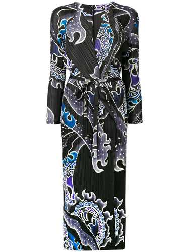 Picture of Issey Miyake Pleats Please | Wave Printed Long Coat