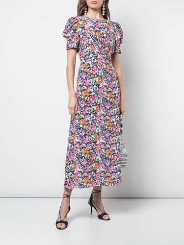 Picture of Saloni | Belted Floral Print Dress