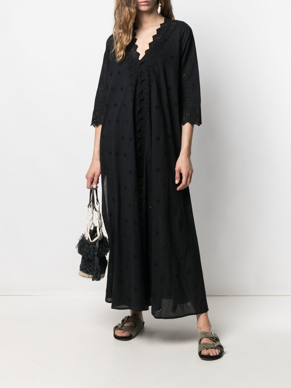 Picture of Semicouture | Cut Out-Detail Maxi Dress