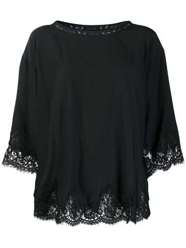 Picture of Ermanno Ermanno | Scalloped Lace Hem Blouse