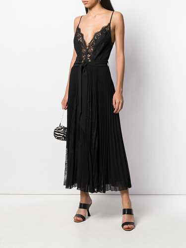 Picture of Ermanno Ermanno | Pleated Cami-Styled Evening Dress
