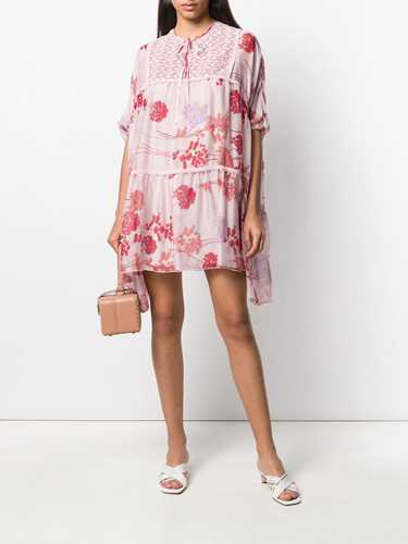 Picture of Giamba   Panelled Floral Mini Dress