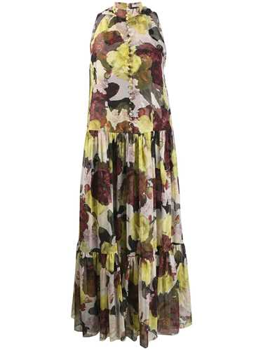 Picture of Erdem | Sleeveless Ruffle Floral Dress