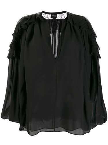 Picture of Giambattista Valli | V-Neck Ruffled Blouse