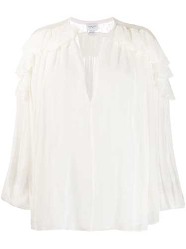 Picture of Giambattista Valli | Ruffled V-Neck Blouse