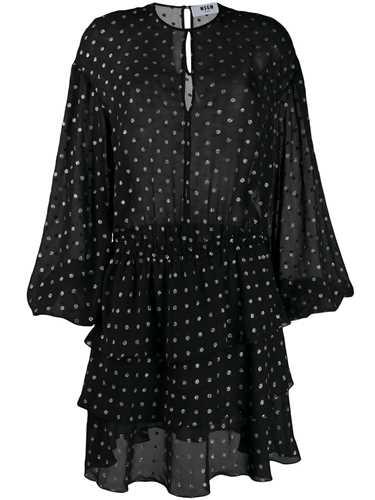 Picture of Msgm | Polka Dot Ruffle Dress