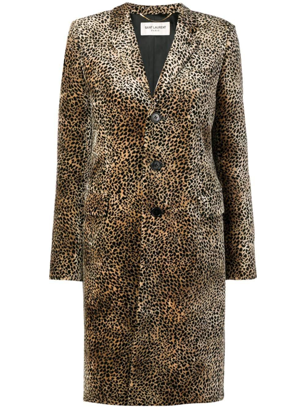 Picture of Saint Laurent   Chesterfield Leopard Print Coat
