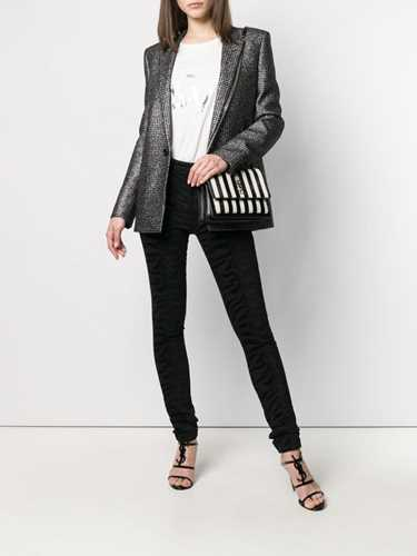 Picture of Saint Laurent | Houndstooth Pattern Blazer