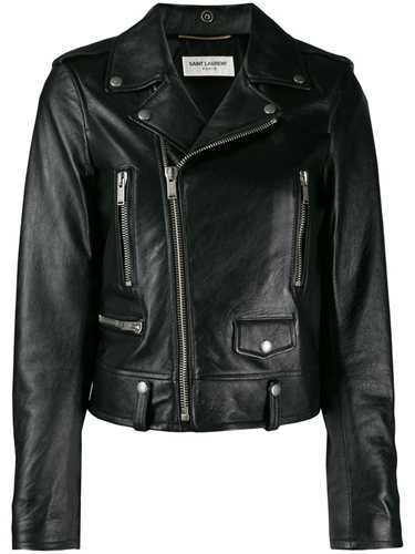 Picture of Saint Laurent | Cropped Biker Jacket
