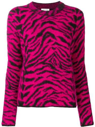 Picture of Saint Laurent | Zebra Intarsia Sweater