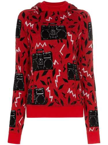Picture of Saint Laurent | Beatbox Intarsia Jumper