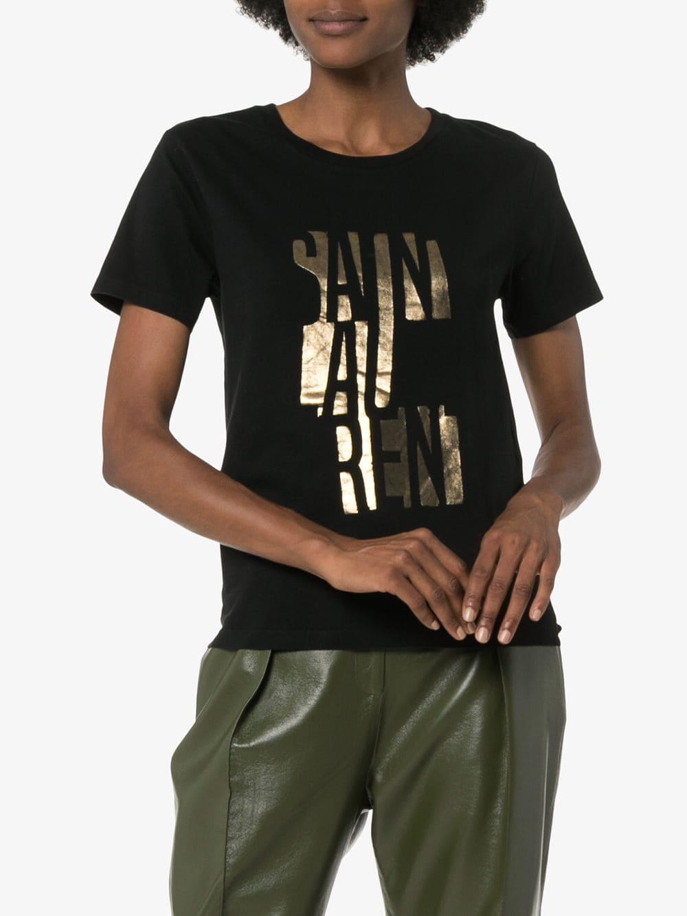 Picture of Saint Laurent | Logo Print T-Shirt