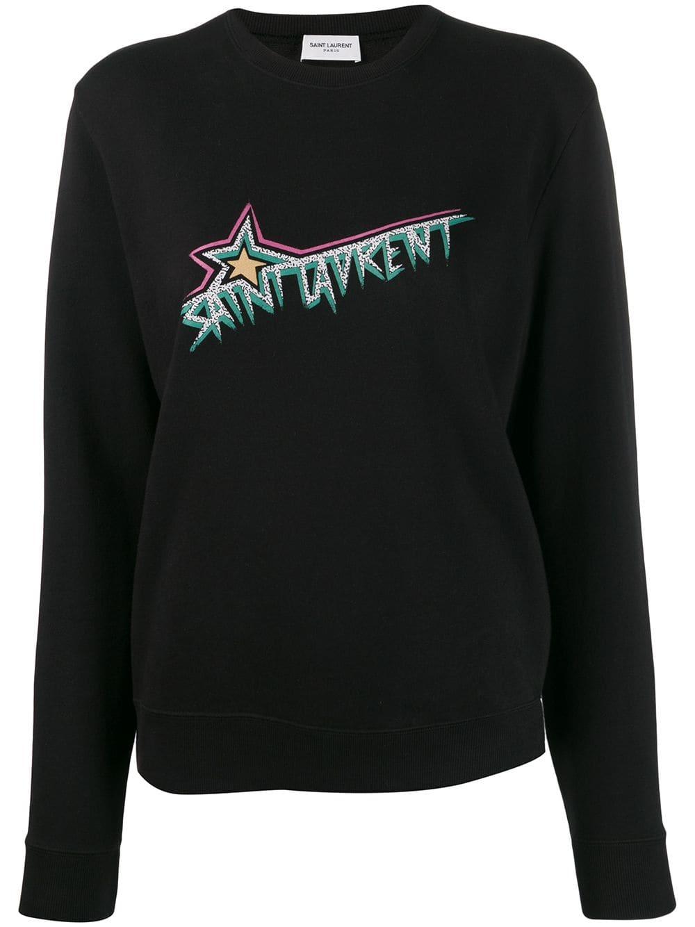 Picture of Saint Laurent | Logo Print Sweatshirt