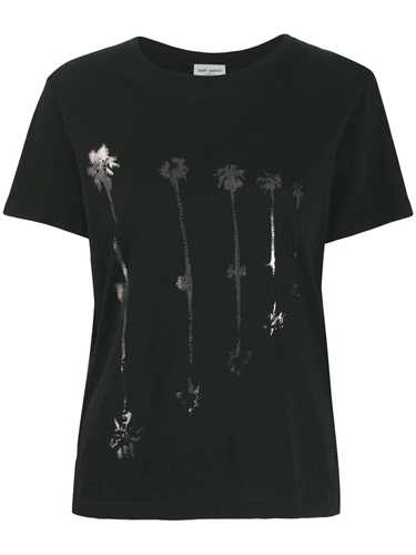 Picture of Saint Laurent | Palm Tree Print T-Shirt