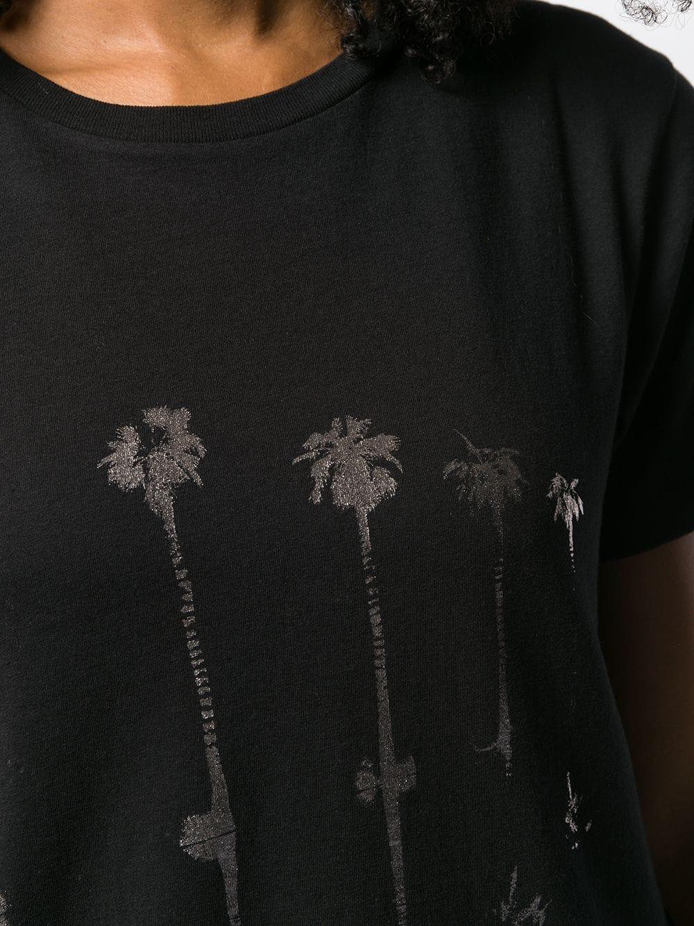 Picture of Saint Laurent | Palm Tree Print T-Shirt