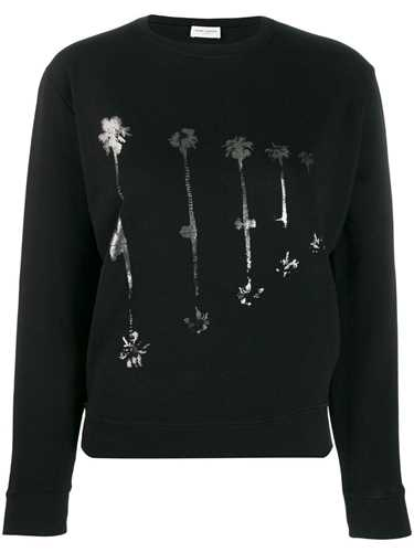 Picture of Saint Laurent | Palm Tree Print Sweatshirt
