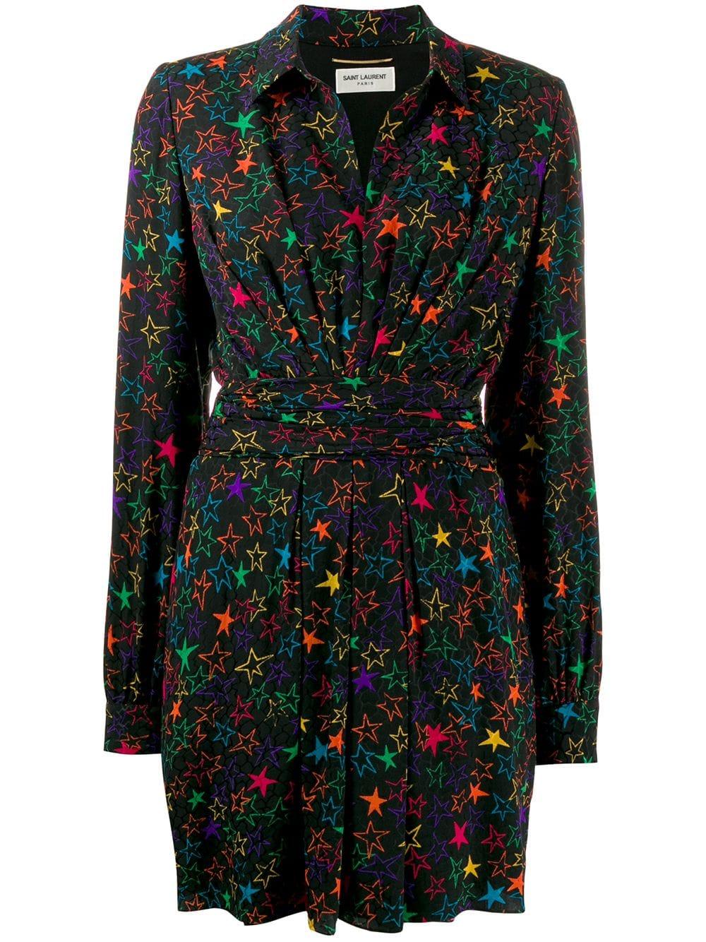 Picture of Saint Laurent | Star Print Dress