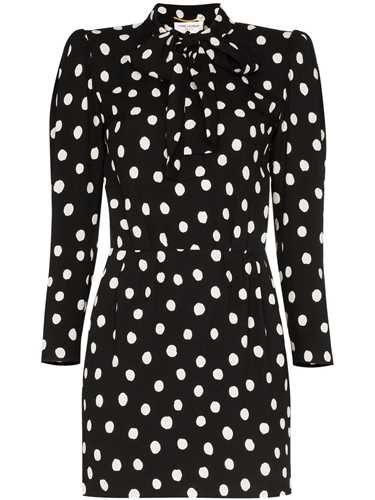Picture of Saint Laurent | Polka-Dot Mini Dress