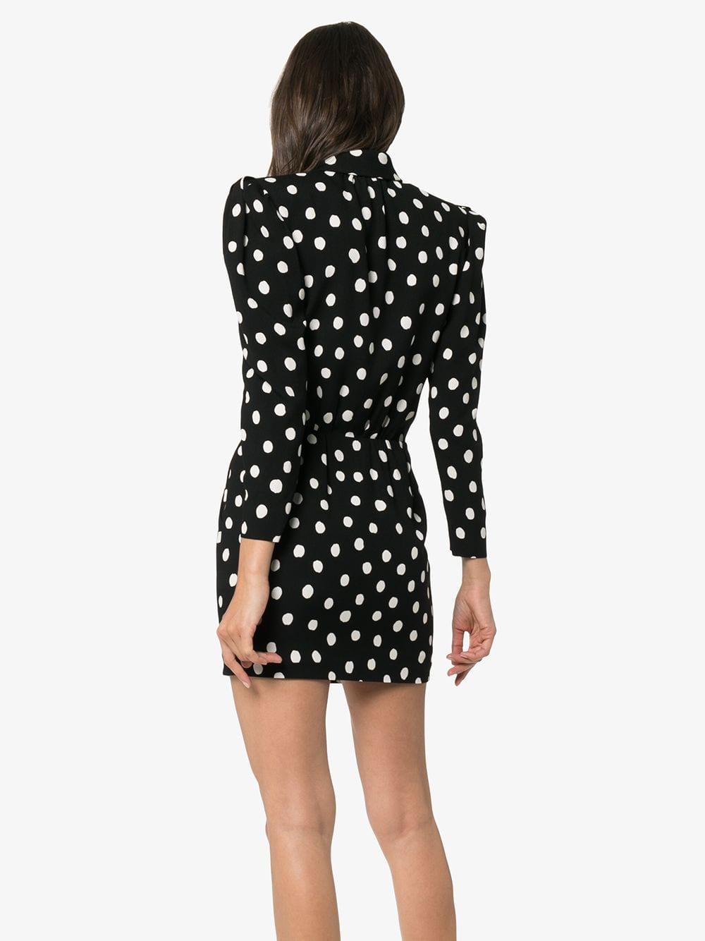 Picture of Saint Laurent | Polka-Dot Mini Dress