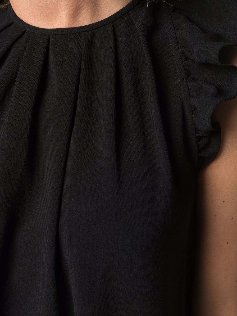 Picture of Aspesi | Ruffle-Trim Sleevless Top