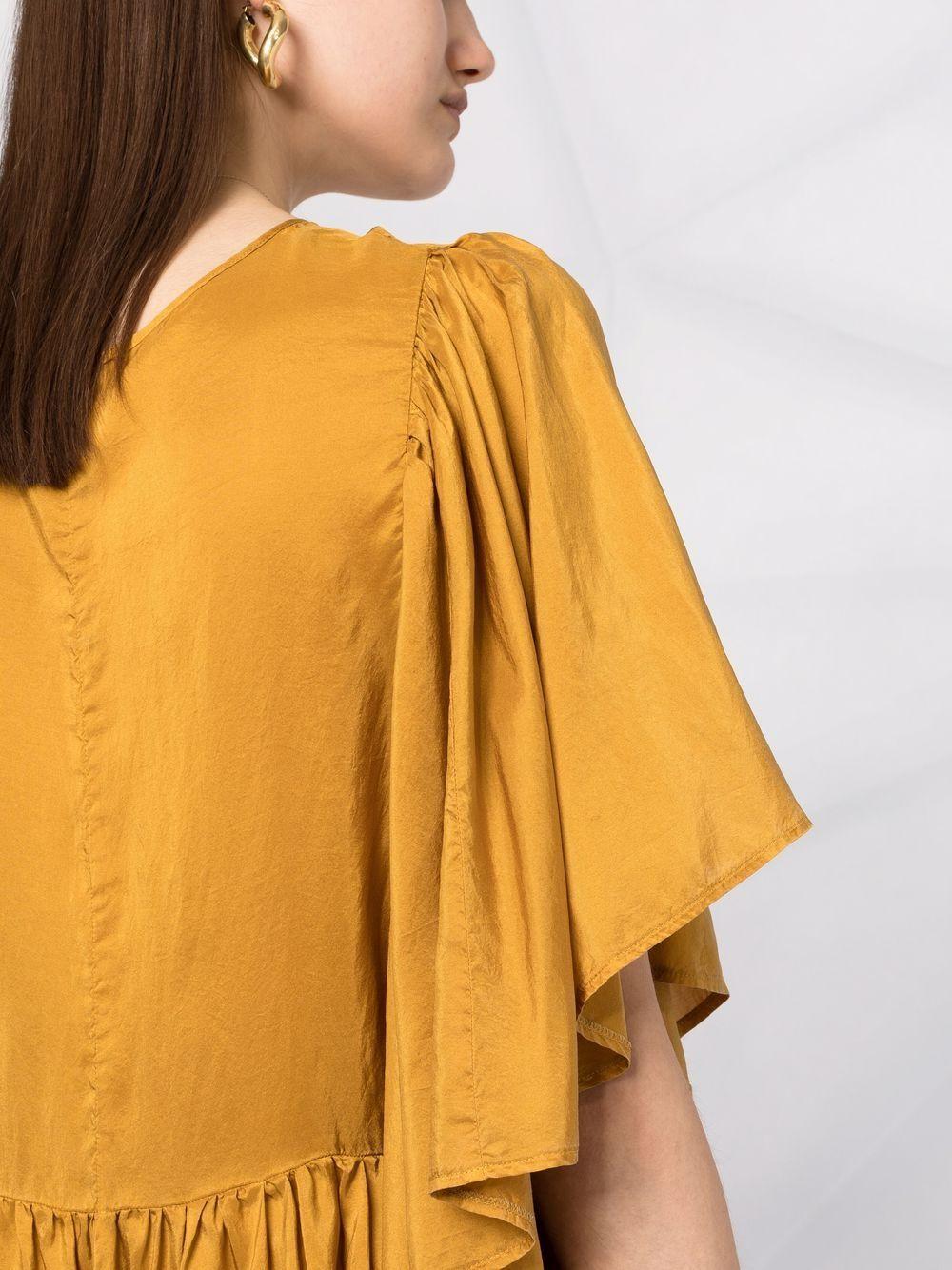 Picture of Forte_Forte | Ruffled Silk Mini Dress