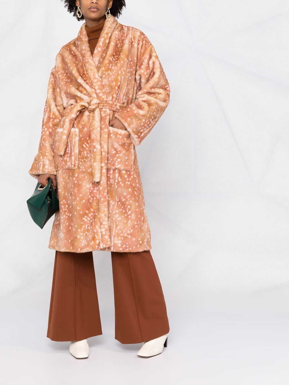 Picture of Forte_Forte   Animal-Print Belted Coat