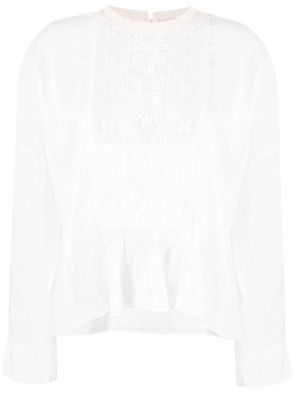 Picture of Forte_Forte   Lace-Panel Blouse