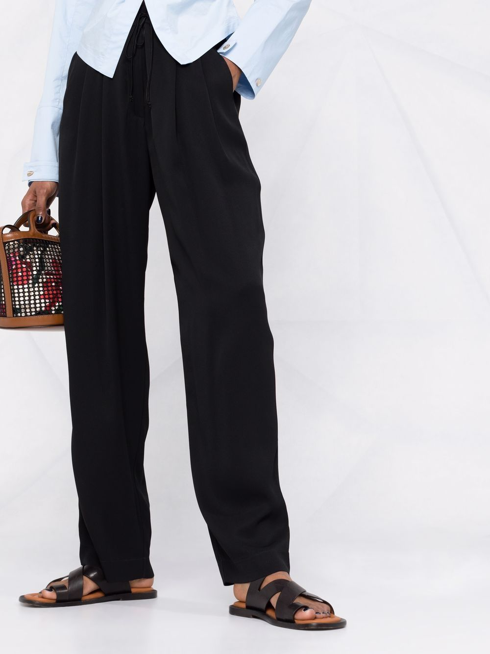 Picture of Forte_Forte   High-Waisted Straight-Leg Trousers