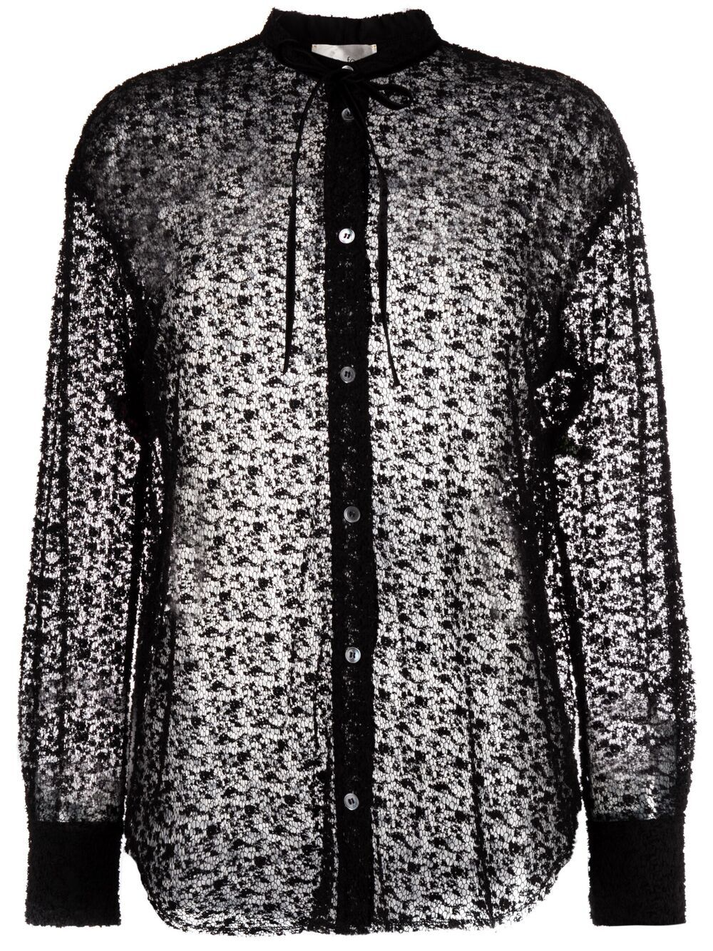 Picture of Forte_Forte   Lace-Design Shirt