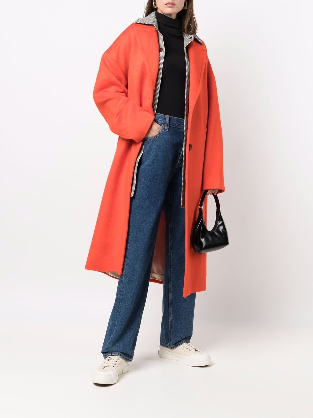 Picture of Golden Goose Deluxe Brand | Straight-Cut Single-Breasted Coat