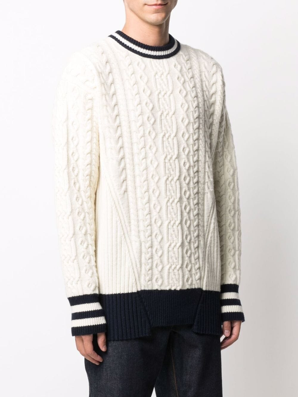 Picture of Golden Goose Deluxe Brand   Journey Collection Devon Contrasting-Trim Jumper