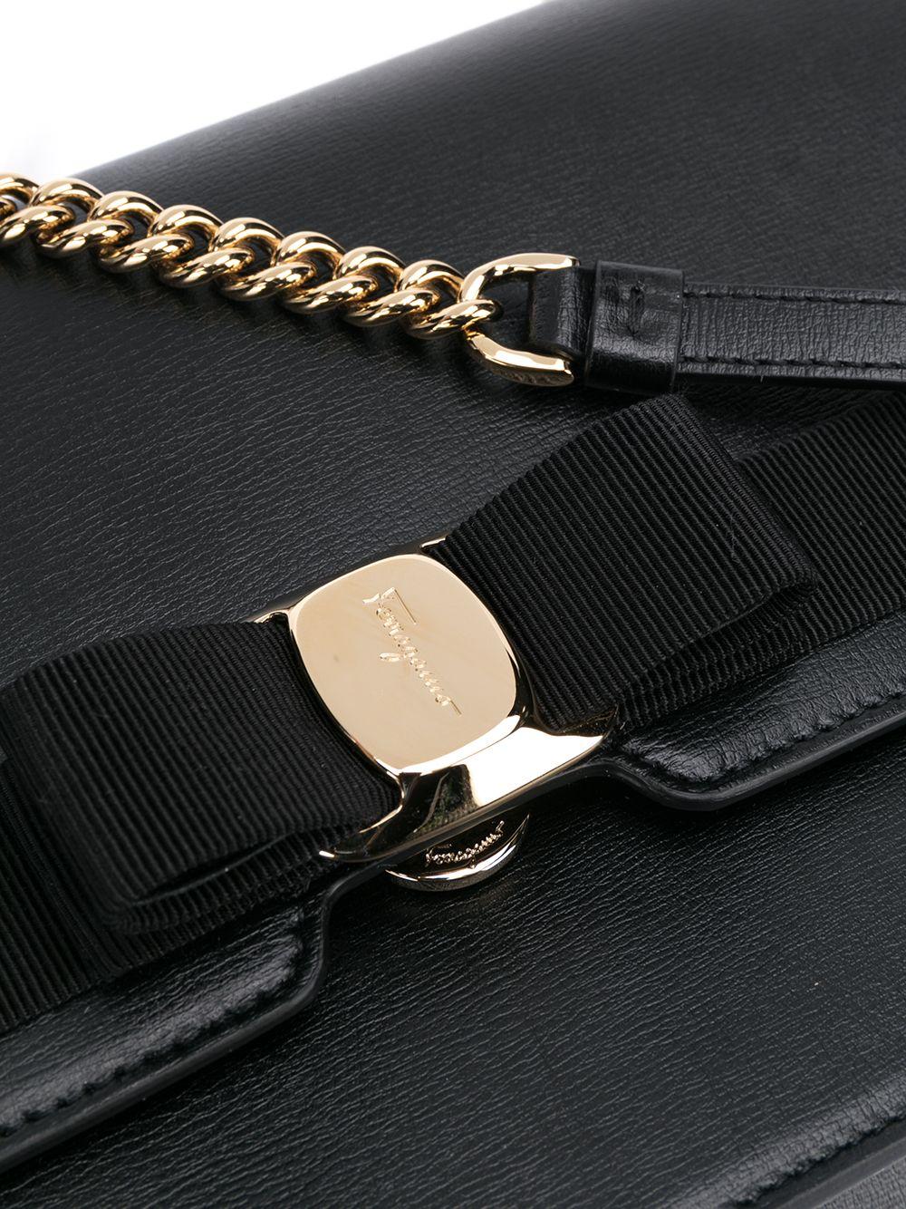 Picture of Ferragamo | Vara Leather Shoulder Bag