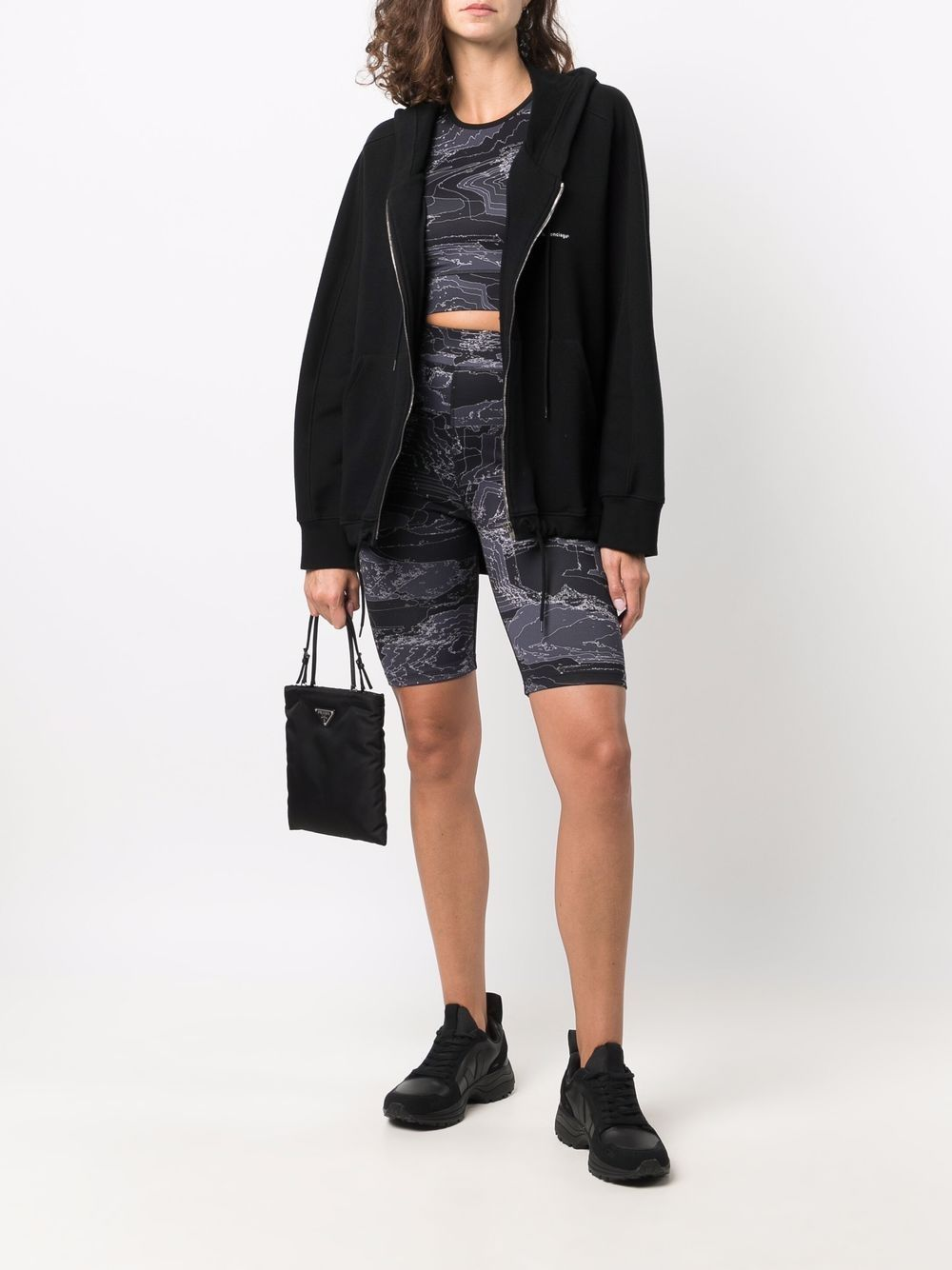 Picture of Mcq   High-Rise Fitted Cycling Shorts
