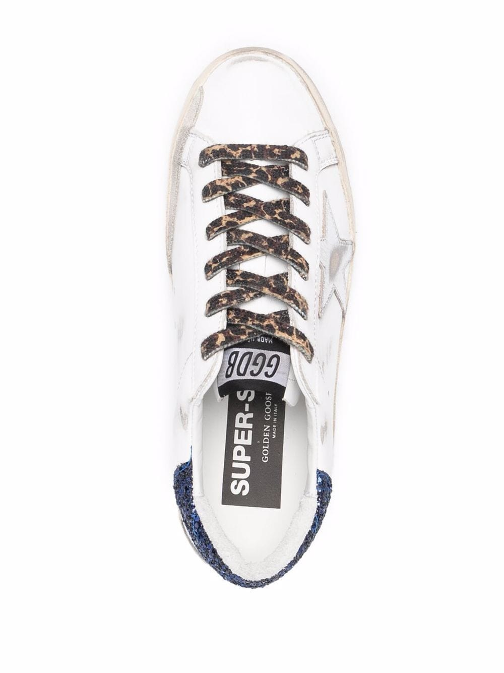 Picture of Golden Goose Deluxe Brand | Star-Patch Lace-Up Sneakers