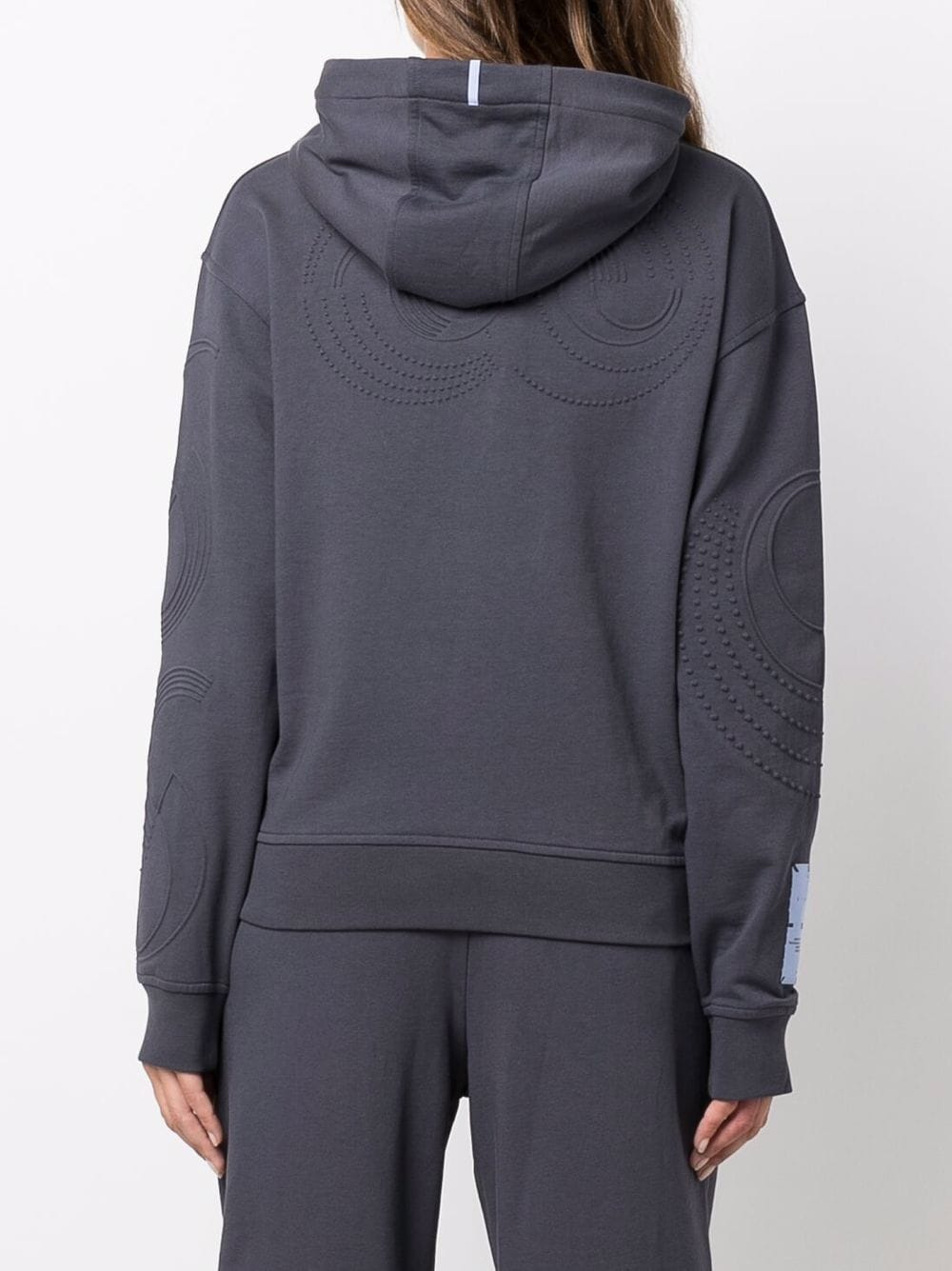 Picture of Mcq   Logo-Patch Sleeve Hoodie