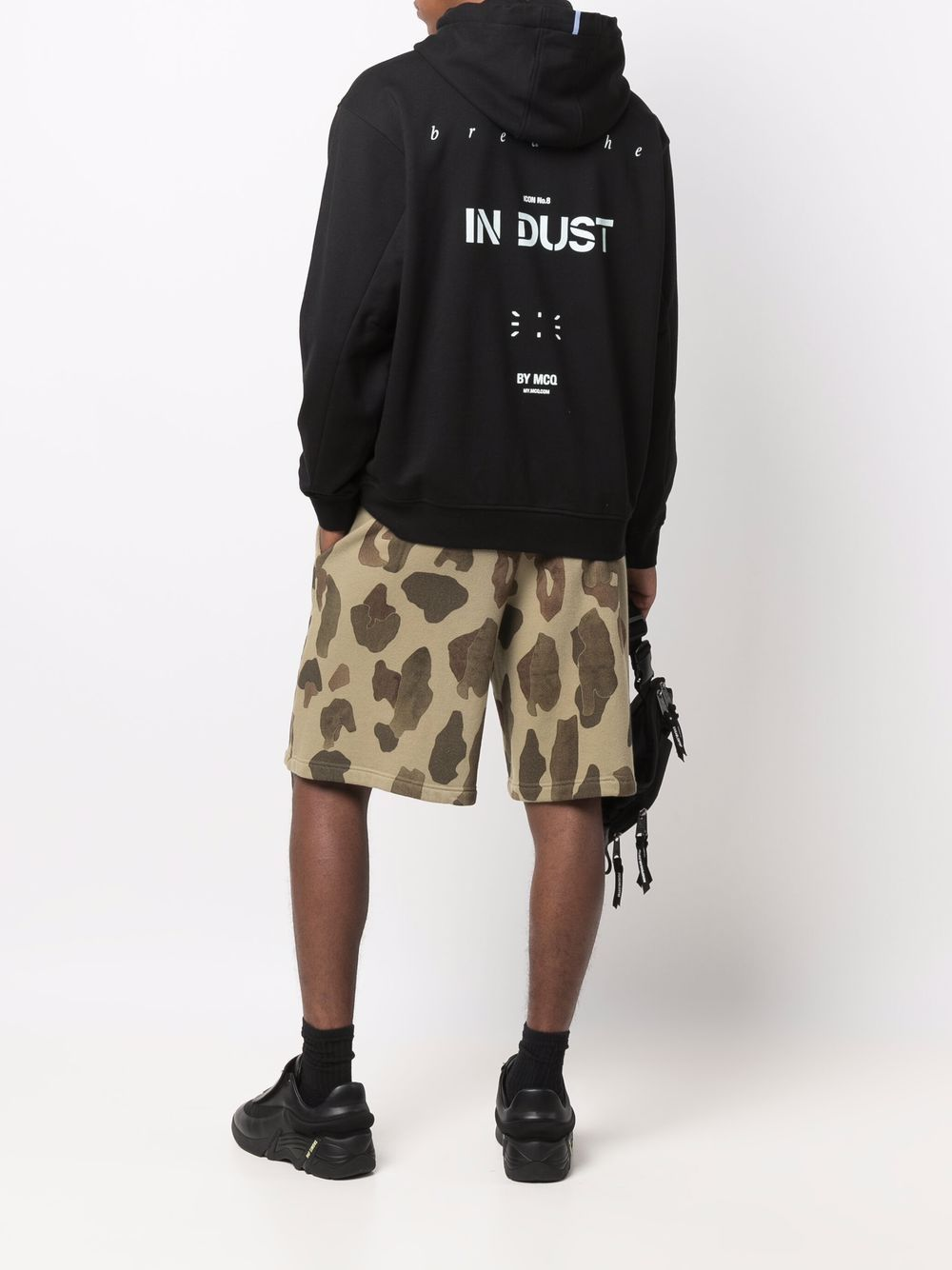 Picture of Mcq   In Dust Logo-Print Hoodie