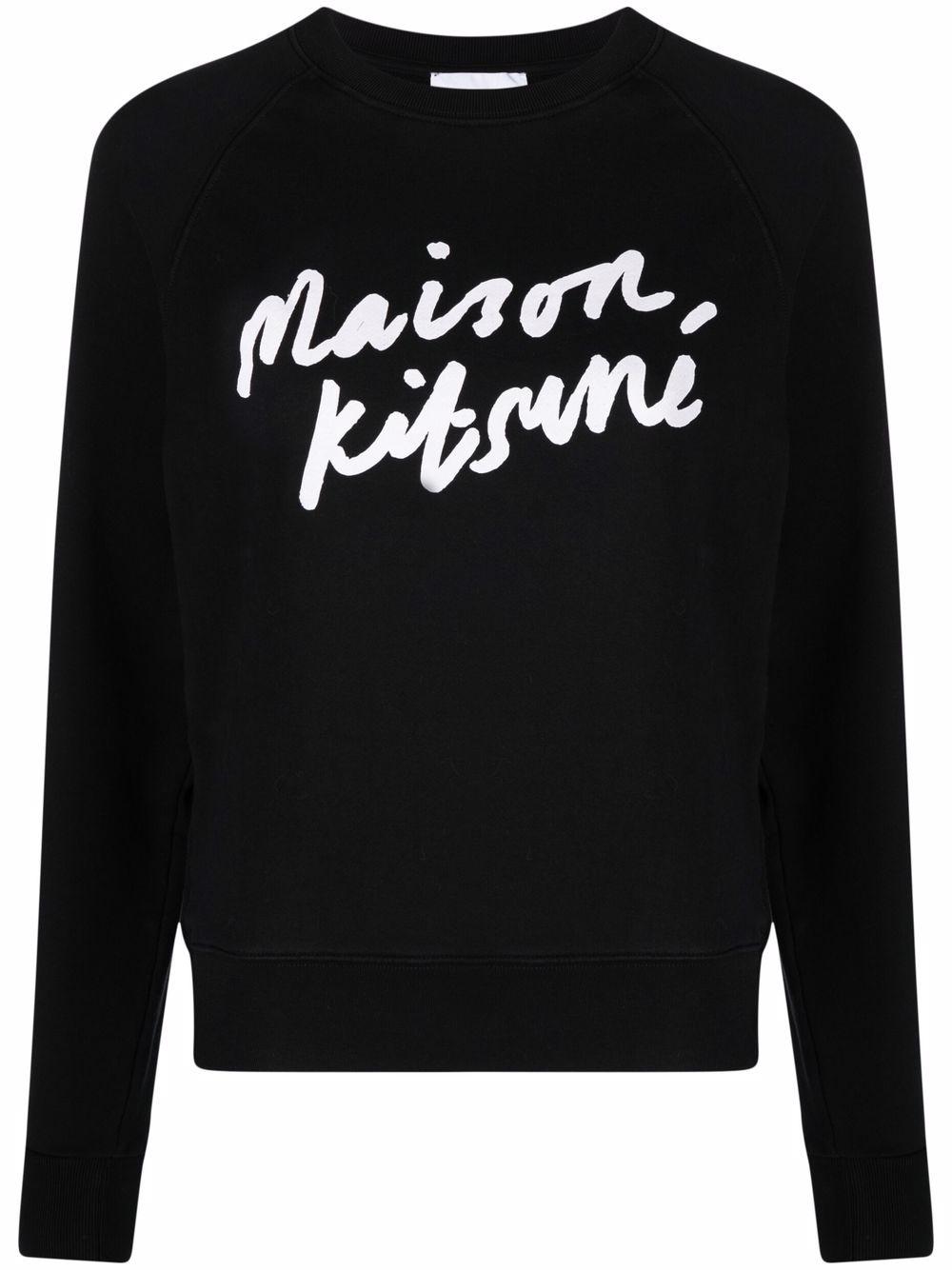 Picture of Maison Kitsune`   Logo-Print Cotton Sweatshirt
